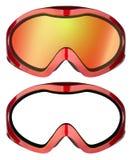 De beschermende brillen van de ski vector illustratie