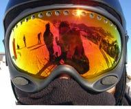 De Beschermende brillen van de ski Stock Foto