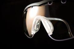 De beschermende glazen van de pompoen stock fotografie