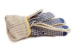 De beschermende handschoenen van de stof Stock Foto's