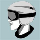 De beschermende helm, vectorillustratie, het voeren trekt royalty-vrije illustratie