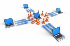 De Bescherming van de firewall Stock Fotografie