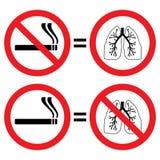 De bescherming van de long tegen rokend teken Stock Fotografie