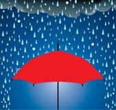 De bescherming van de paraplu royalty-vrije illustratie
