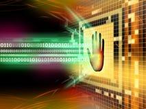 De bescherming van de software Stock Afbeeldingen