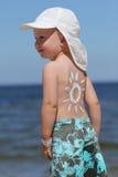 De bescherming van de zon Stock Foto's