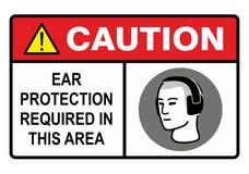De bescherming van het oor Stock Afbeeldingen