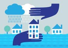 De Bescherming van de huisvloed stock illustratie