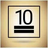 De Beschermings Breekbaar Teken van het pakketpictogram Stock Fotografie