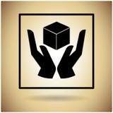 De Beschermings Breekbaar Teken van het pakketpictogram Royalty-vrije Stock Afbeeldingen