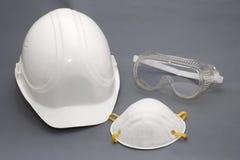 De beschermingsapparatuur van de bouwvakker en van de veiligheid stock afbeeldingen