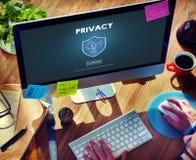 De Beschermingsconcept van de privacy Privé Geheim Veiligheid Stock Foto's