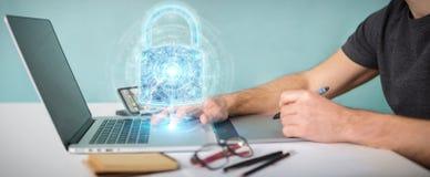De beschermingsinterface van de Webveiligheid die door grafische ontwerper 3D wordt gebruikt aangaande Vector Illustratie