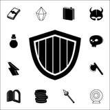 de beschermingspictogram van het tekenspel Voor Web wordt geplaatst dat en het mobiele algemene begrip van spelpictogrammen royalty-vrije illustratie