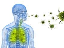 De besmetting van het virus vector illustratie