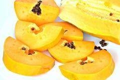 De besnoeiing van de papaja Stock Foto's