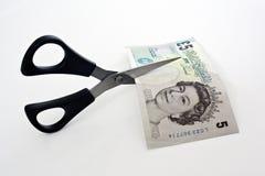 De Besnoeiingen van het geld Stock Afbeelding