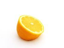 De besnoeiingskant van de citroen stock fotografie