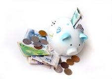 De Besparing van het begin! /Investeer in Vreemde valuta royalty-vrije stock afbeelding