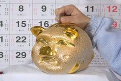 De besparing van het muntstuk Royalty-vrije Stock Foto
