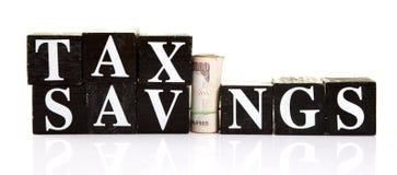 De besparingen van de belasting Stock Foto's