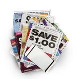 De besparingen van de coupon royalty-vrije stock afbeeldingen