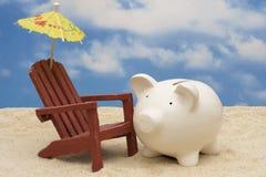 De Besparingen van de pensionering Stock Fotografie