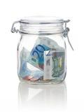 De besparingen van het geld stock afbeelding