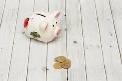 De besparingen van het spaarvarken Royalty-vrije Stock Afbeelding