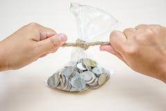 De besparingsconcept van het geld Royalty-vrije Stock Afbeelding