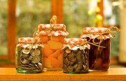 De besparingsconcept van het geld Royalty-vrije Stock Afbeeldingen