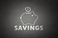 De besparingsconcept van het spaarvarken royalty-vrije stock afbeelding