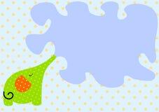 De bespattende Kaart van de Uitnodiging van de Olifant Stock Foto