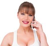 De Bespreking van de telefoon Stock Foto's