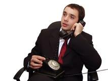 De bespreking van de telefoon Stock Fotografie