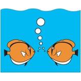 De bespreking van vissen   Stock Foto's