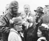 De besprekingen van Yangiyerfidel om meisjes 1963 de weg te bereiden Royalty-vrije Stock Afbeeldingen