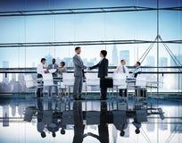 De Besprekings Communicatie van de bedrijfsmensenhanddruk Concept Royalty-vrije Stock Foto's