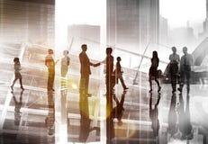 De Besprekings Communicatie van de bedrijfsmensenhanddruk Vergadering Conce Stock Afbeeldingen