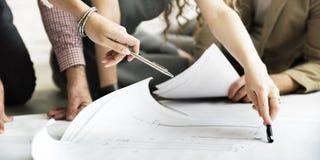 De Besprekingsconcept van architectendesign project meeting royalty-vrije stock fotografie