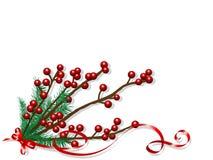 De bessen van Kerstmis Royalty-vrije Stock Afbeeldingen