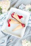 De bessensorbet van het veganistroomijs Stock Foto