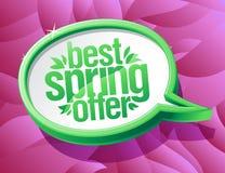 De beste banner van de de toespraakbel van de de lenteaanbieding Royalty-vrije Stock Afbeelding
