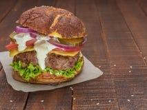 De beste cheeseburger van vers vlees Stock Foto