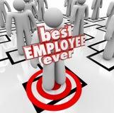 De beste 3d Woorden van Werknemers ooit Person Worker Org Chart Royalty-vrije Stock Fotografie
