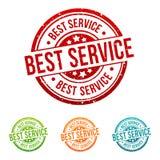 De beste Dienst - Waarborg - Onlineshop-Kenteken in verschillende kleuren Royalty-vrije Stock Foto's