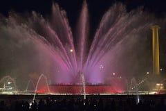 De beste fontein om in het centrum van Barcelona te blijven royalty-vrije stock foto's