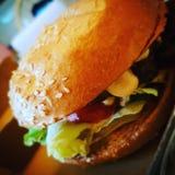 De beste Hamburger op de wereld! Stock Afbeelding