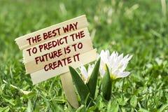 De beste manier om de toekomst te voorspellen is het te creëren royalty-vrije stock afbeelding