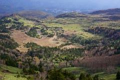 De beste mening van Shibu-pas Shiga Kogen in Japan royalty-vrije stock fotografie